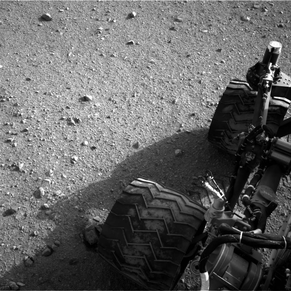 Curiosity - Gleba na kołach