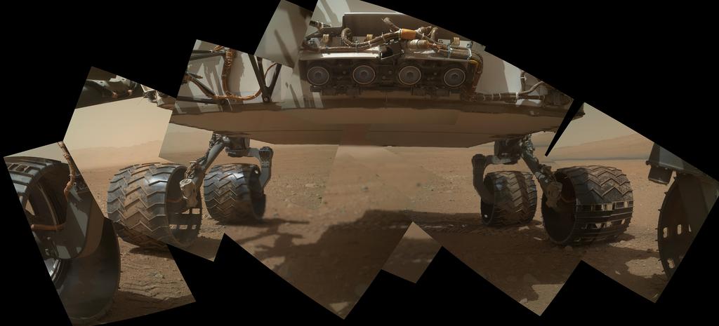 Curiosity - podwozie łazika