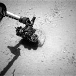 Curiosity - badanie skały