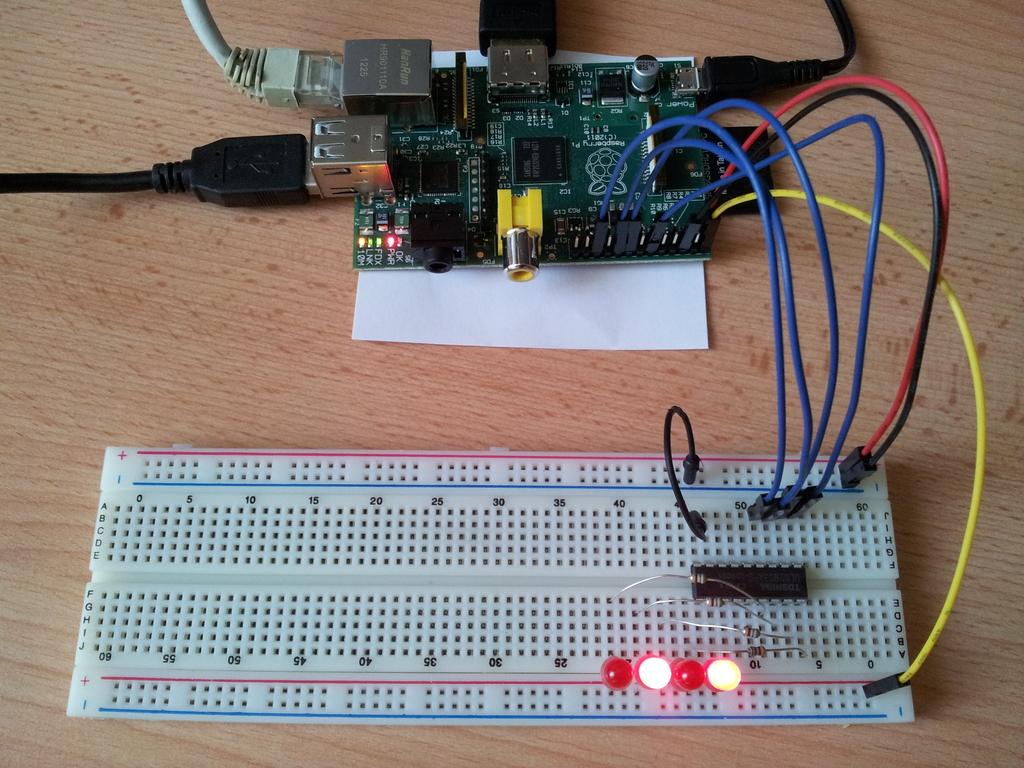 Raspberry Pi - 4 diody